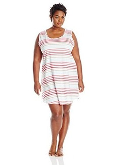 Jockey Women's Plus-Size Cotton Striped Chemise