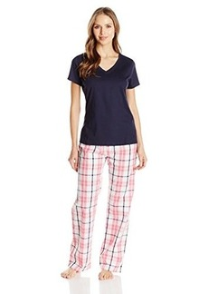 Jockey Women's Short Sleeve Top with Pant Pajama