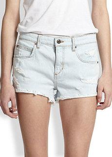 Joe's Distressed Cut-Off Denim Shorts