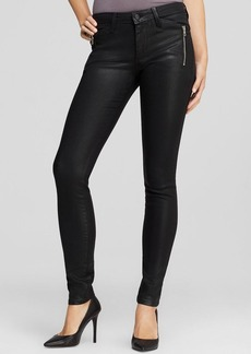 Joe's Jeans - Coated Rollin Zip Skinny in Jet Black