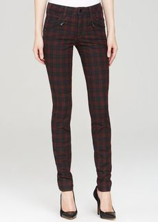 Joe's Jeans - Inline Zip Skinny in Coated Plaid