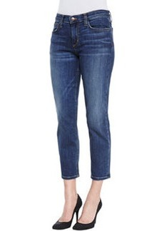 Joe's Jeans Aubree Slim Straight Crop Jeans, Medium Dark Blue
