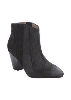 Joe's Jeans black distressed suede-leather ankle boot