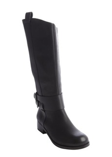 Joe's Jeans black leather and canvas 'Loretta' boots