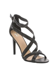Joe's Jeans black leather 'Ramsey' strappy sandals