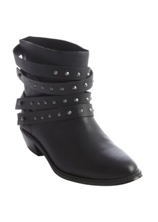 Joe's Jeans black leather studded detail 'Sam' ankle boot