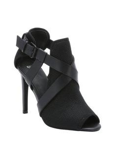 Joe's Jeans black mesh and leather 'Prosper' stiletto sandals