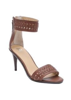 Joe's Jeans brown leather 'Pax' woven sandals