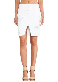 Joe's Jeans Button Up Pencil Skirt in White