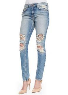 Joe's Jeans Cali Slouched & Slim Distressed Jeans, Light Blue