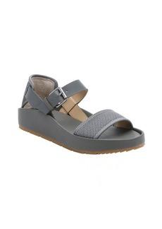 Joe's Jeans charcoal mesh and leather 'Pomeroy' platform sandals