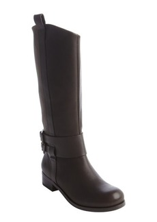 Joe's Jeans chocolate leather and canvas 'Loretta' boots