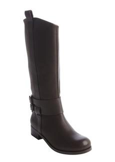 Joe's Jeans cocoa brown leather double buckle strap 'Loretta' boots