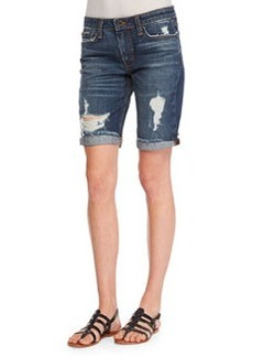 Joe's Jeans Finn Distressed Denim Bermuda Shorts