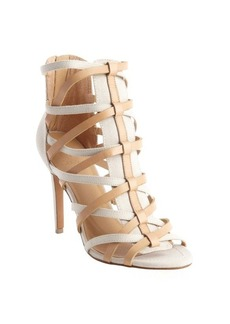 Joe's Jeans ivory and camel 'Evin' strappy sandals