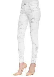 Joe's Jeans Jay Super Chic Skinny Ankle Jeans, Light Gray Tie Dye