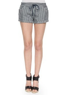 Joe's Jeans Lennos Striped Cuffed Drawstring Shorts