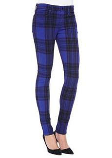 Joe's Jeans Mid-Rise Plaid Skinny Jeans