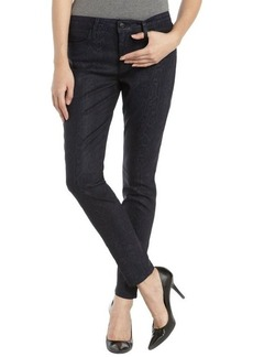 Joe's Jeans midnight wash printed stretch coated skinny ankle jeans
