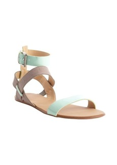 Joe's Jeans mint and taupe 'Eryn' gladiator sandals
