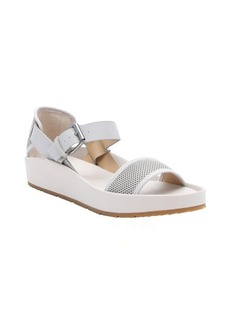Joe's Jeans off-white mesh and leather 'Pomeroy' platform sandals