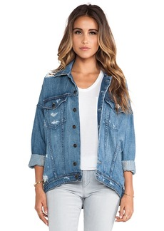 Joe's Jeans Oversized Dolman Jacket in Blue