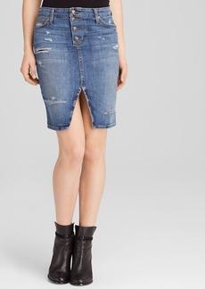 Joe's Jeans Pencil Skirt - Button Up in Jesenia