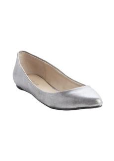 Joe's Jeans silver leather metallic finish ballet flats