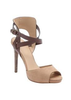 Joe's Jeans tan and brown nubuck 'Patrik' stiletto sandals