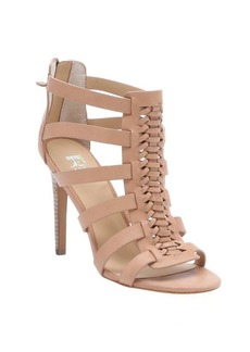 Joe's Jeans tan leather 'Pearce' woven stiletto sandals