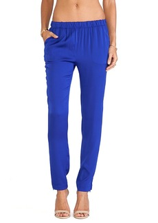 Joe's Jeans Vivian Silk Pants in Royal
