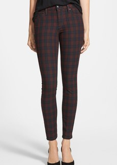 Joe's Mid Rise Skinny Jeans (Coated Plaid)