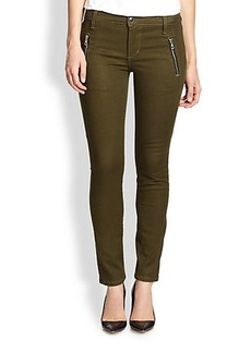 Joe's Oblique Zip-Pocket Skinny Jeans