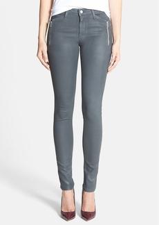 Joe's 'Rollin' Zip Skinny Jeans (Grey Skies)