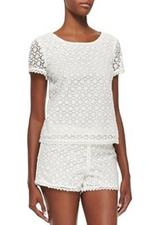 Alsace Short-Sleeve Lace Top   Alsace Short-Sleeve Lace Top
