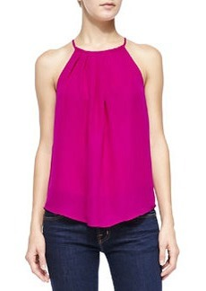Amarey Pleated-Front Sleeveless Blouse   Amarey Pleated-Front Sleeveless Blouse