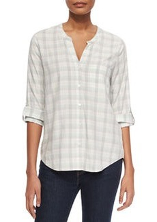 Anabella Plaid Georgette Blouse   Anabella Plaid Georgette Blouse