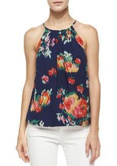 Joie Anatese B Floral Ikat-Print Top