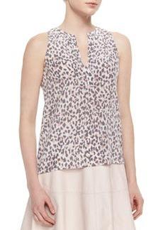 Aruna Leopard-Print Silk Blouse   Aruna Leopard-Print Silk Blouse