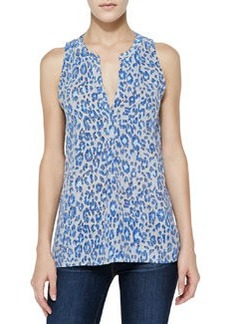 Aruna Printed Sleeveless Silk Top   Aruna Printed Sleeveless Silk Top