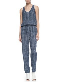 Biltmore Printed Sleeveless Jersey Jumpsuit   Biltmore Printed Sleeveless Jersey Jumpsuit