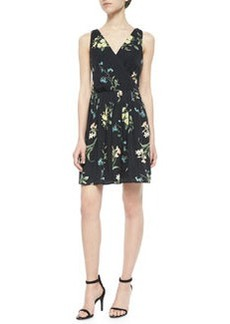 Braydon Floral-Print Silk Dress   Braydon Floral-Print Silk Dress