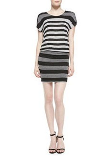 Brix Striped Jersey Short-Sleeve Dress   Brix Striped Jersey Short-Sleeve Dress
