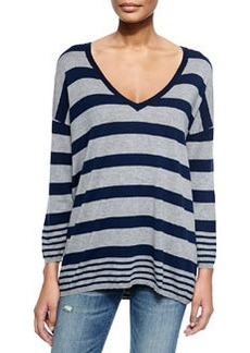 Chyanne D Striped V-Neck Sweater   Chyanne D Striped V-Neck Sweater