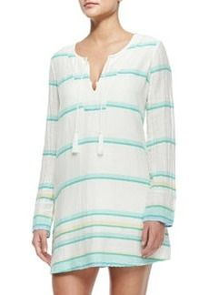 Dacy Long-Sleeve Coverup Tunic Dress   Dacy Long-Sleeve Coverup Tunic Dress