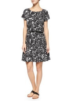 Joie Eley Hawaiian Floral-Print Popover Dress