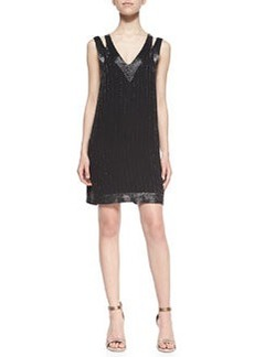 Francoise Beaded Double-Strap Dress   Francoise Beaded Double-Strap Dress