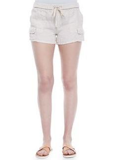Ilya Short Linen Cargo Shorts   Ilya Short Linen Cargo Shorts