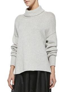Irissa Rib-Trim Turtleneck Sweater   Irissa Rib-Trim Turtleneck Sweater