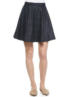 Ivanna A-Line Plaid Swingy Skirt   Ivanna A-Line Plaid Swingy Skirt